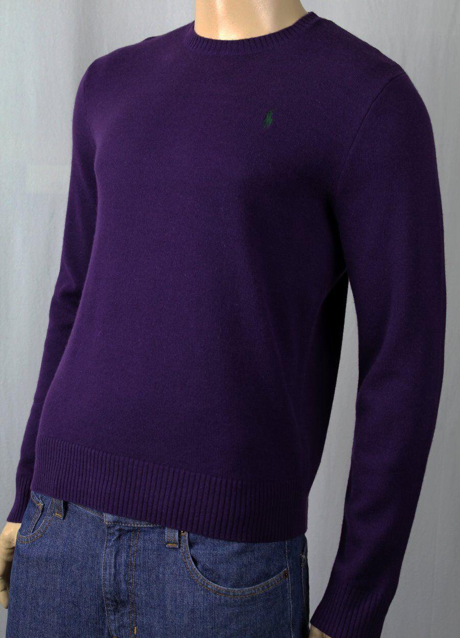 Polo Ralph Lauren lila Cashmere Sweater Grün Pony NWT 325