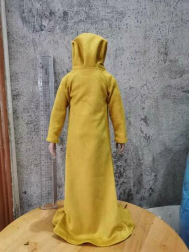 "Custom 1:6th Scale Yellow mage coat Cloak Model For 12/"" Hottoys HT Figure"
