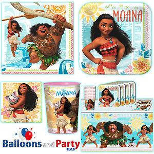 Disney-Moana-Movie-Child-039-s-Birthday-Party-Tableware-Decorations-Supplies