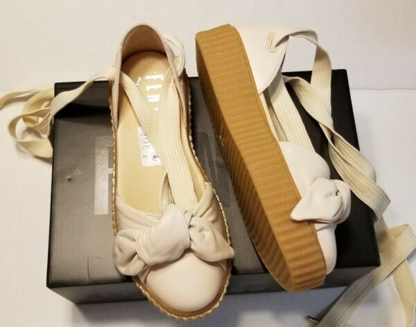 5738a98bd1b Fenty Puma By Rihanna Women Bow Creeper Sandal Silver Pink 365794-01 Size  8. Hover to zoom