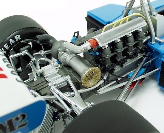 Racer McLaren Vintage 1970s Indy 500 Race Car Sport exótico Carrusel Azul 1 18
