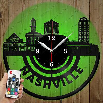 Details about  /LED Vinyl Clock Car Tuning LED Wall Art Decor Clock Original Gift 6153
