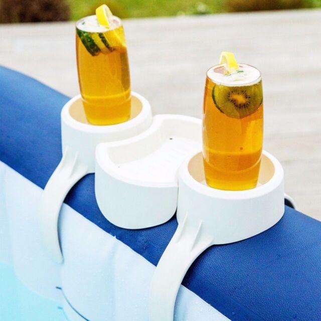 Bestway Lay-Z Spa Whirlpool Zubehör 2 X Becher Getränke Halter Snack Ständer Neu