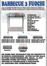 B&P Barbecue a gas 3 fuochi BeP ACCIAIO INOX Made in Italy prodotto artigianale