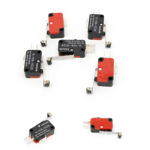 5Pcs Micro Limit Switch Long V-156-1C25 Hinge Roller Momentary SPDT Snap Action
