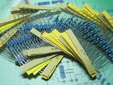 50 value 1/2W 0.5W 1% Metal Film Resistor 500pcs Assortment Kit,high quality