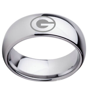 Green-Bay-Packers-Team-Silver-Stainless-Steel-Band-Rings-Size-6-13