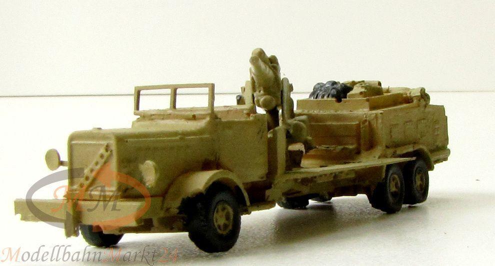 8,8 cm artillerie sur camion allemand 2. guerre mondiale militaire stand modèle scale 1 160