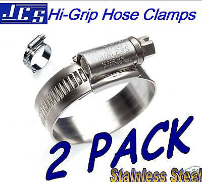 SIZE 70 70MM 50-70MM 3 JCS HI-GRIP BOX OF 10 STAINLESS STEEL HOSE CLIPS