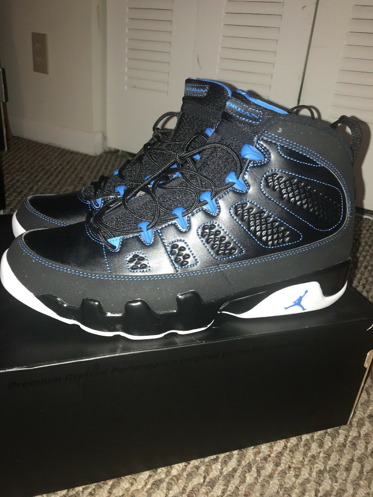 AIR JORDAN 9 RETRO Vnds 9.9/10 PHOTO BLUE SIZE 11 yeezy bred kaws nmd ultraboost