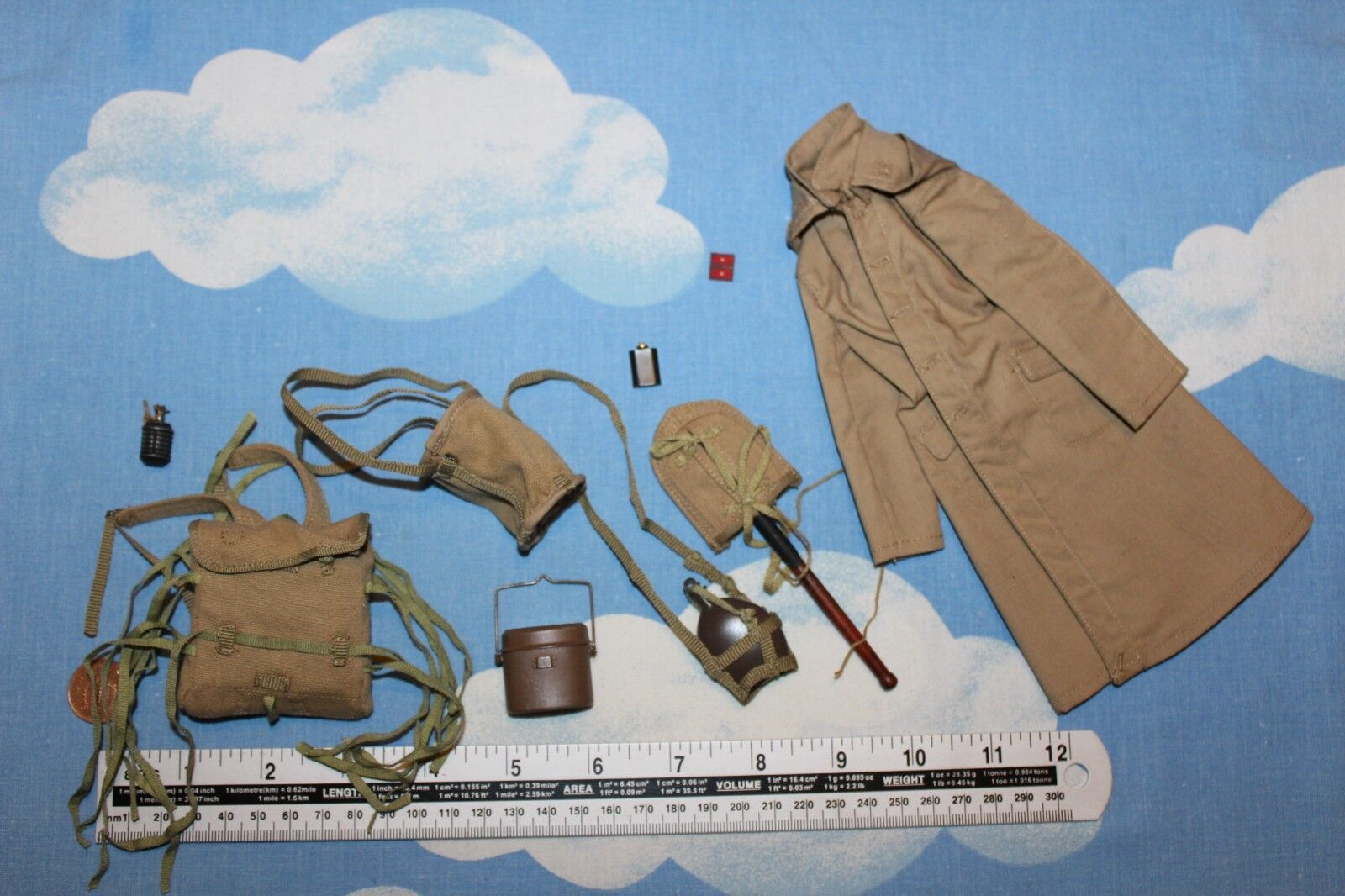 3R DID DRAGON IN DREAMS 1 6TH SCALE WW2 JAPANESE 32ND ARMY COAT & EQUIPMENT