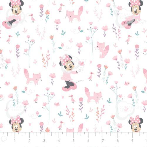 Disney Minnie Mouse y zorros 100/% Tela De Algodón Por Metro FQ o media para coser