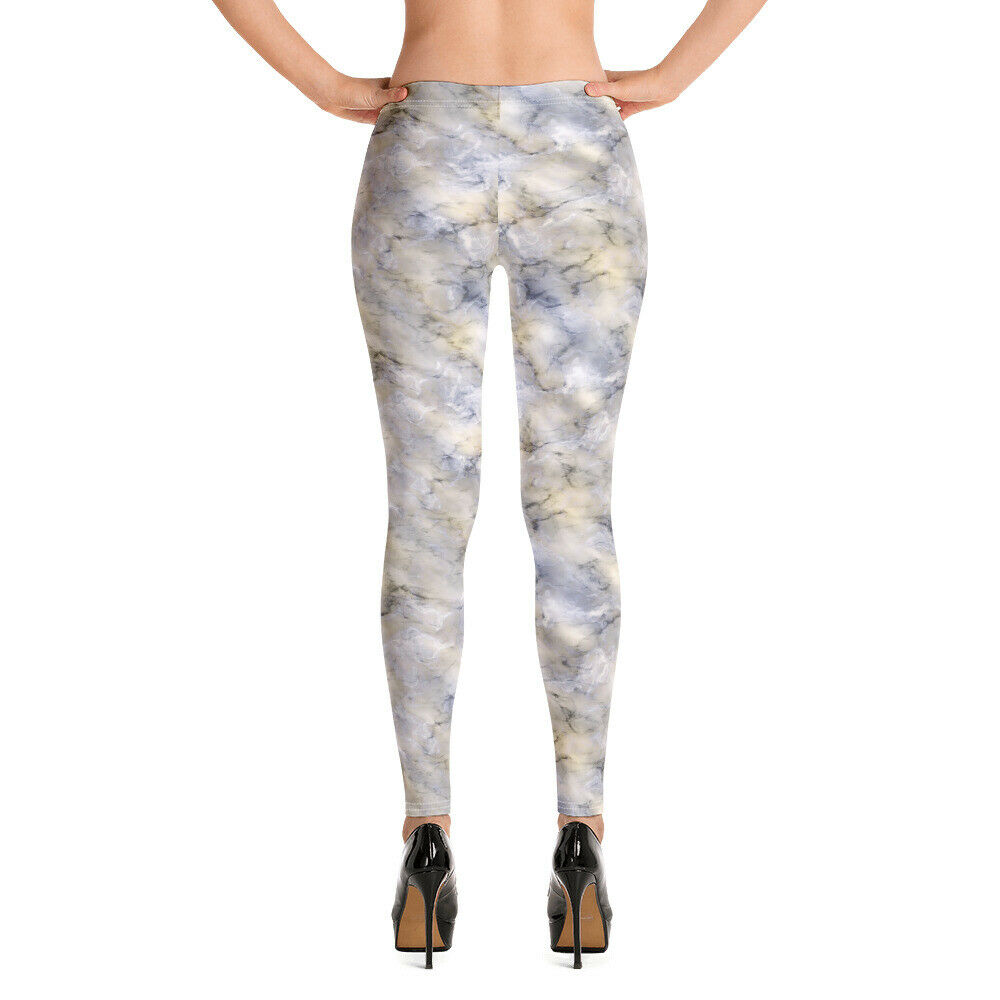 Image 01 - Leggings decorated with a wonderful marble effect