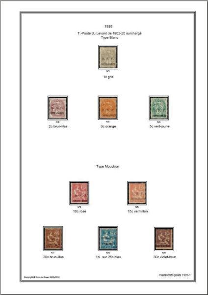 Appris Album De Timbres De Castellorizo 1920 à Imprimer