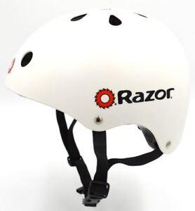 8412725542b Razor V-11 Kids Multi-Sport Helmet Children Protection Safety White ...