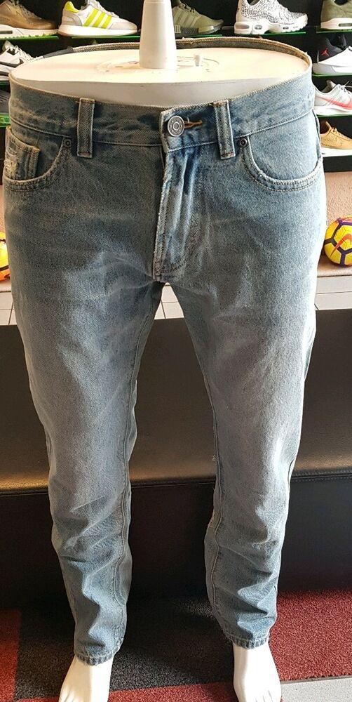 Puma X Xo Denim Pants Bleached Denim T W 32 L 34 Neuf