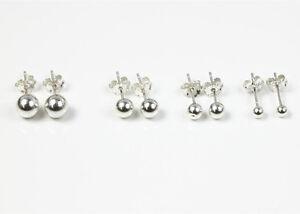 925-Sterling-Silber-Kugel-Ball-Ohrringe-Ohrstecker-Ohrschmuck-3mm-6mm