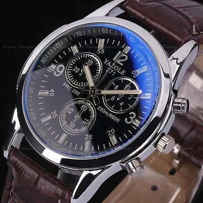 Men's Fashion Black Stainless Steel Luxury Sport Analog Quartz Wrist Watch GIFT