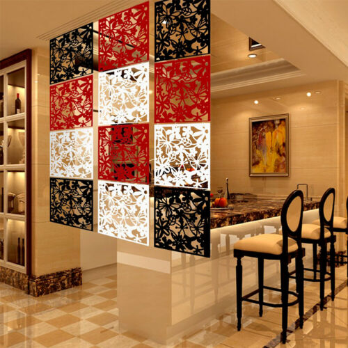 4//8//12Pcs Room Divider Partition Hanging Screen Wall Decals DIY Home Decor 15/""