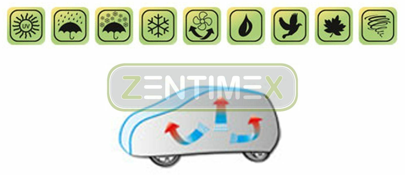 Kegel Blazusiak Basic Autoplane XL SUV Vollgarage Ganzgarage 4DBASICXL SUV31 Auto Abdeckplane Sonnenschutz kompatibel mit Mercedes GLC