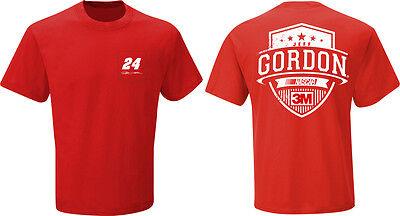 2015 JEFF GORDON #24 3M RED VICTORY NASCAR TEE SHIRT - LARGE