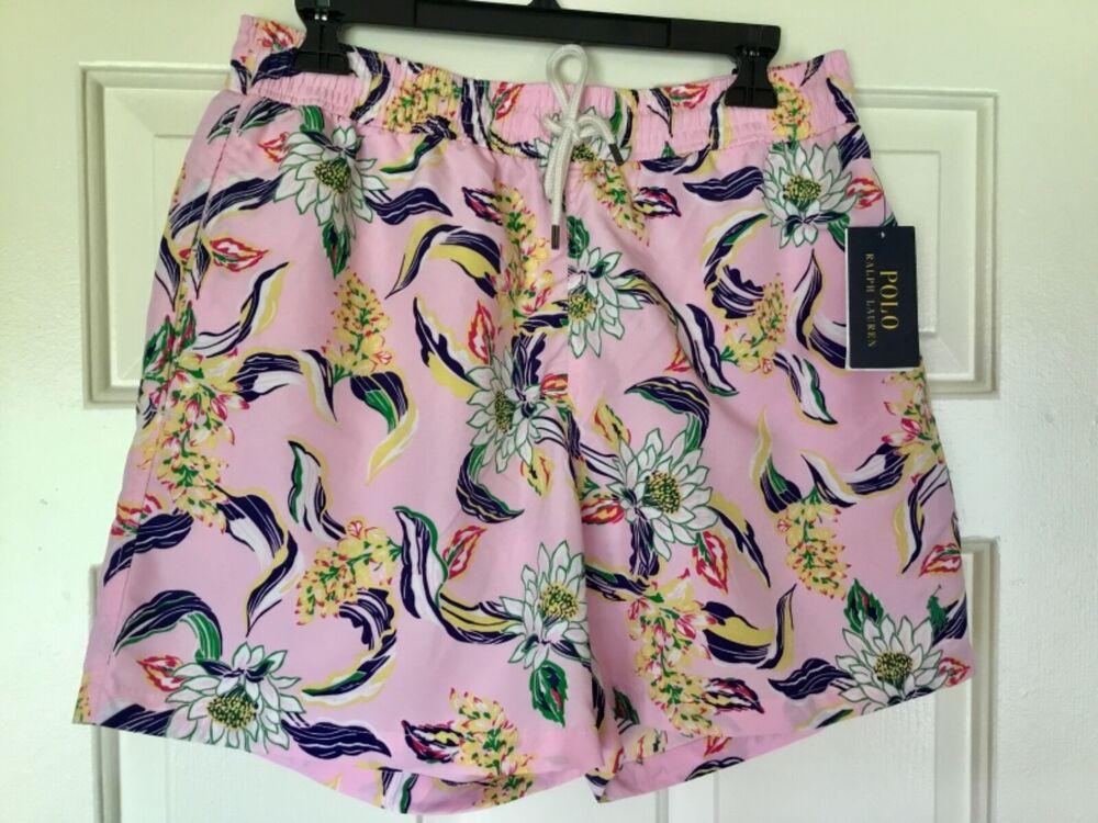 Sur De Soi Ralph Lauren Polo Rose Motif Floral Shorts De Bain Bnwt Taille M Renforcement De La Taille Et Des Nerfs