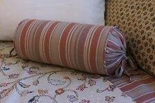 NEW Custom Ralph Lauren Jermyn Street Neck Roll Pillow Neckroll Stripe