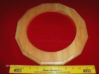 1 Wall Clock Frame Natural Finished Pine Wood Routed,duodecagon, Made In U.s.a