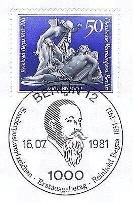 Systematisch Berlin 1981: Reinhold Begas Nr. 647 Mit Sauberem Ersttags-sonderstempel! 1a! Keine Kostenlosen Kosten Zu Irgendeinem Preis