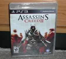 PS3 - ASSASSIN'S CREED 2 II (NEW Y-FOLD Sealed) NTSC RARE CLEAR CASE BLACK LABEL
