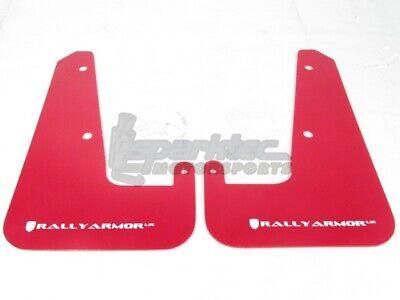 Rally Armor MF19-UR-RD//WH Red White Mud Flap with Logo 11+ STI//WRX Sedan Only UR