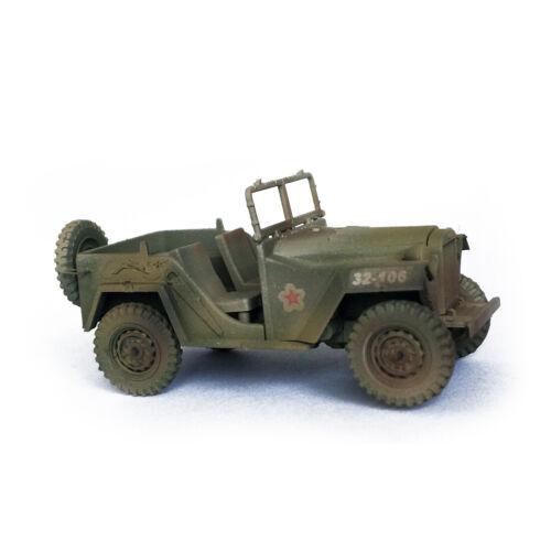 military model,Plastic model 1:72,World War II,Soviet military vehicles GAZ-67B