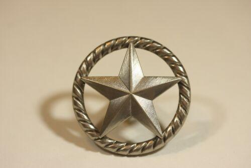 RAISED STAR KNOB SN WESTERN CABINET HARDWARE DRAWER PULLS TEXAS STAR KNOBS PULL