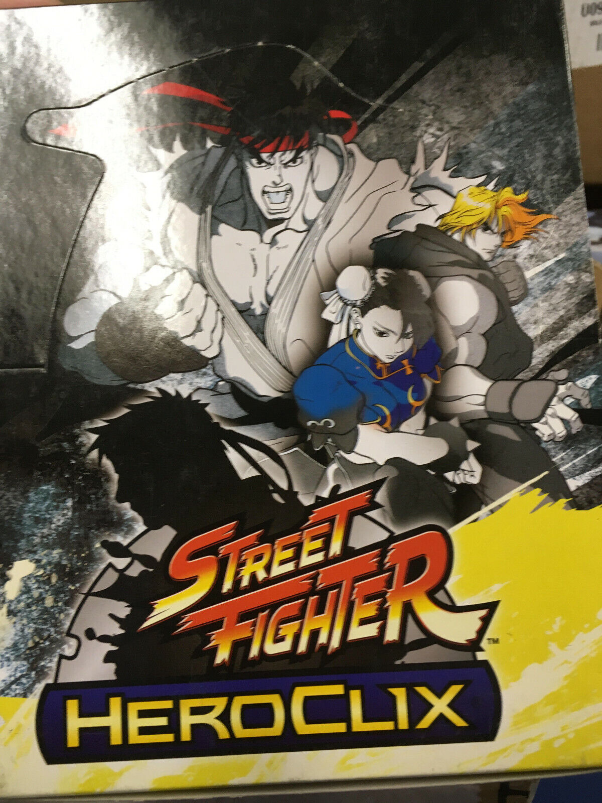 colores increíbles Street Street Street Fighter Heroclix-Booster Box of 24 Figuras  clásico atemporal
