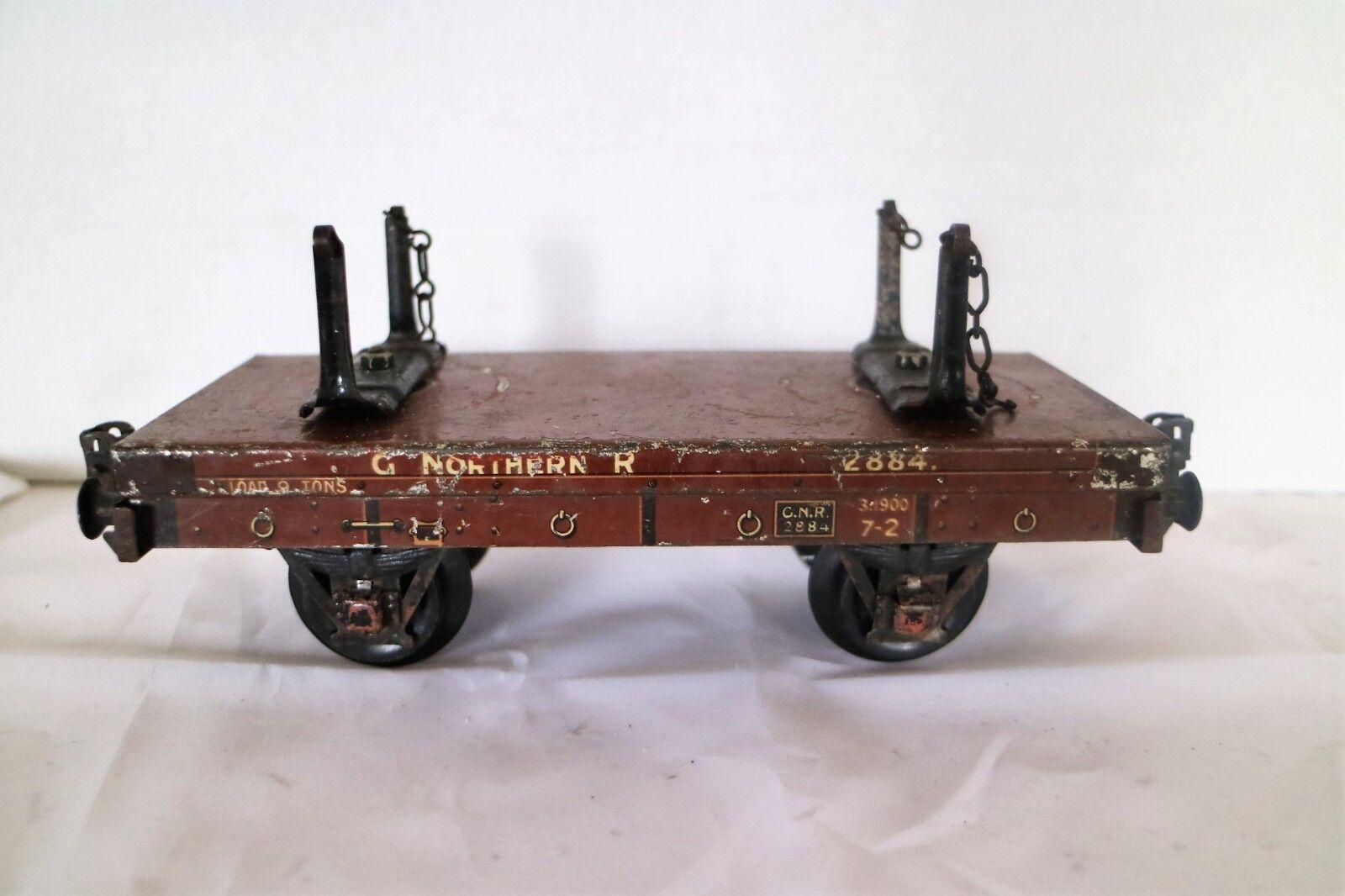 608OP  Vintage Märklin Gauge1 GNR (Great Northern) Log Wagon 2884