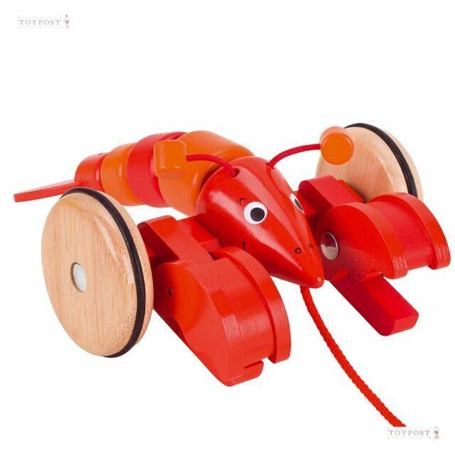 Multi-Colour GoKi 54904 Lobster Pull-Along Animal Toy