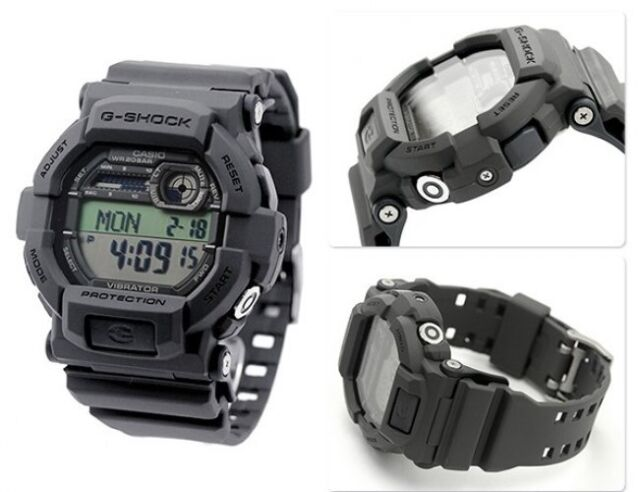 8b5fae845f1d7 Casio G-SHOCK Gd350-8 Grey Digital Vibration Alarm Watch for sale ...