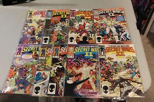 Complete-Set-Secret-Wars-II-1-9-1985-NM-Avengers-Beyonder-Marvel-X-Men-Hulk-NICE