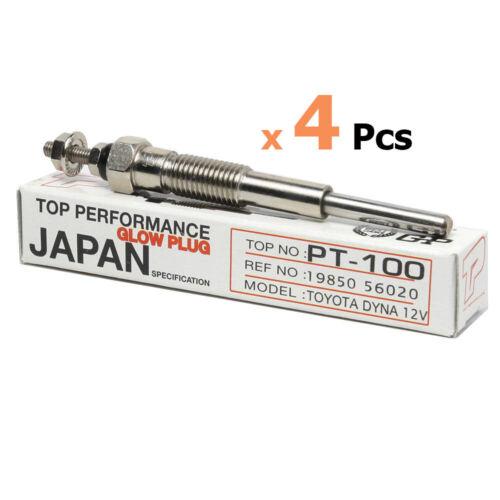 30    B  12V x4 Fit Plug Glow Toyota DYNA   BU12 25 15 20