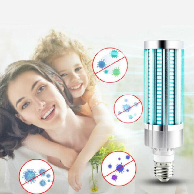 60W UV Ermicidal Lamp LED UVC Bulb E27/E26 Home Ozone Disinfection Light Corn