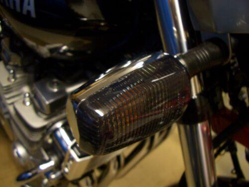 Fumé INDICATEURS signal Lentilles Yamaha XJR 1200 XJR 1300 frecce nero