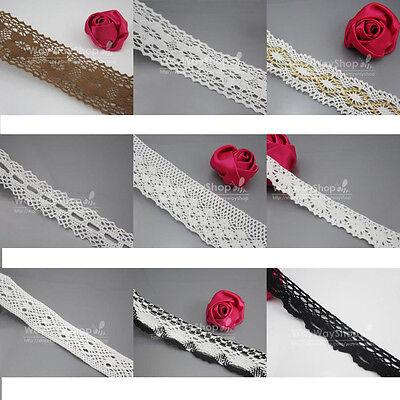 5 Yds 20/22/27/37/40/50/55mm Cotton lace Trim Dress Lace Trim Cotton/Cluny Lace