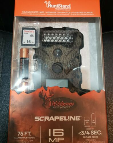WILDGAME INNOVATIONS SCRAPELINE 16 LOW GLOW INFARED GAME CAMERA