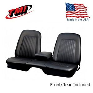 Awesome Details About 1967 1968 Camaro Coupe Front Rear Black Bench Seat Upholstery Pabps2019 Chair Design Images Pabps2019Com