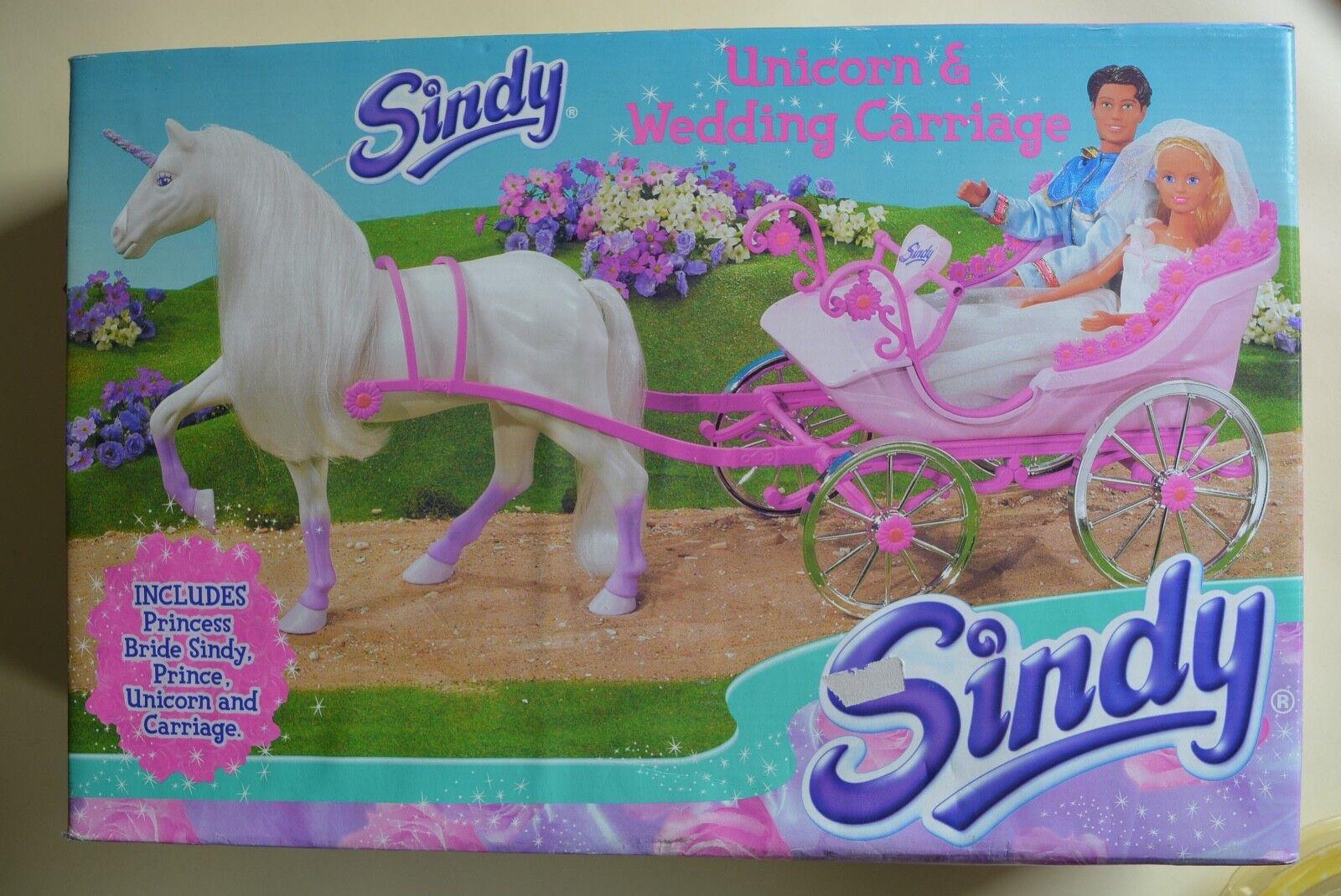 Sindy Unicorn Wedding Carriage Bride & Groom Vivid Imaginations 2003 Unused Box