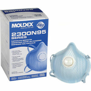 Moldex 2300 N95 Particulate Respirator W/Exhalation Valve Box 10 Masks EXP 08/24