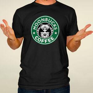 0b345cc3 Moonbucks coffee t-shirt sailor moon shirt funny logo parody tee ...