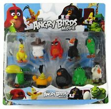 10 Pcs Angry Birds Action Figure Set Toy Collection Red Chuck Pig Kids UK SELLER