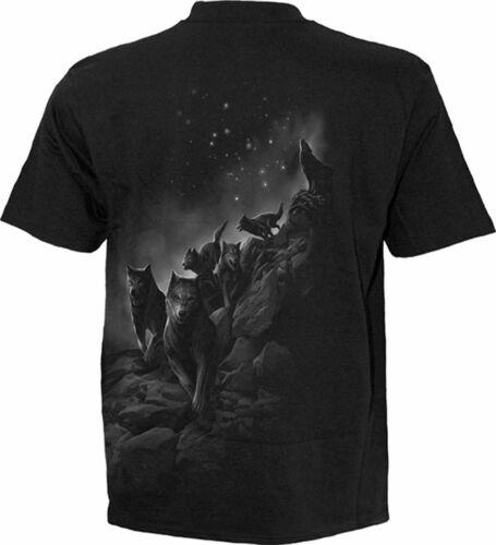 Biker//Vampir//Schädel Spiral Direct Wolf Pack Gewickelt T-Shirt Gotik // Top