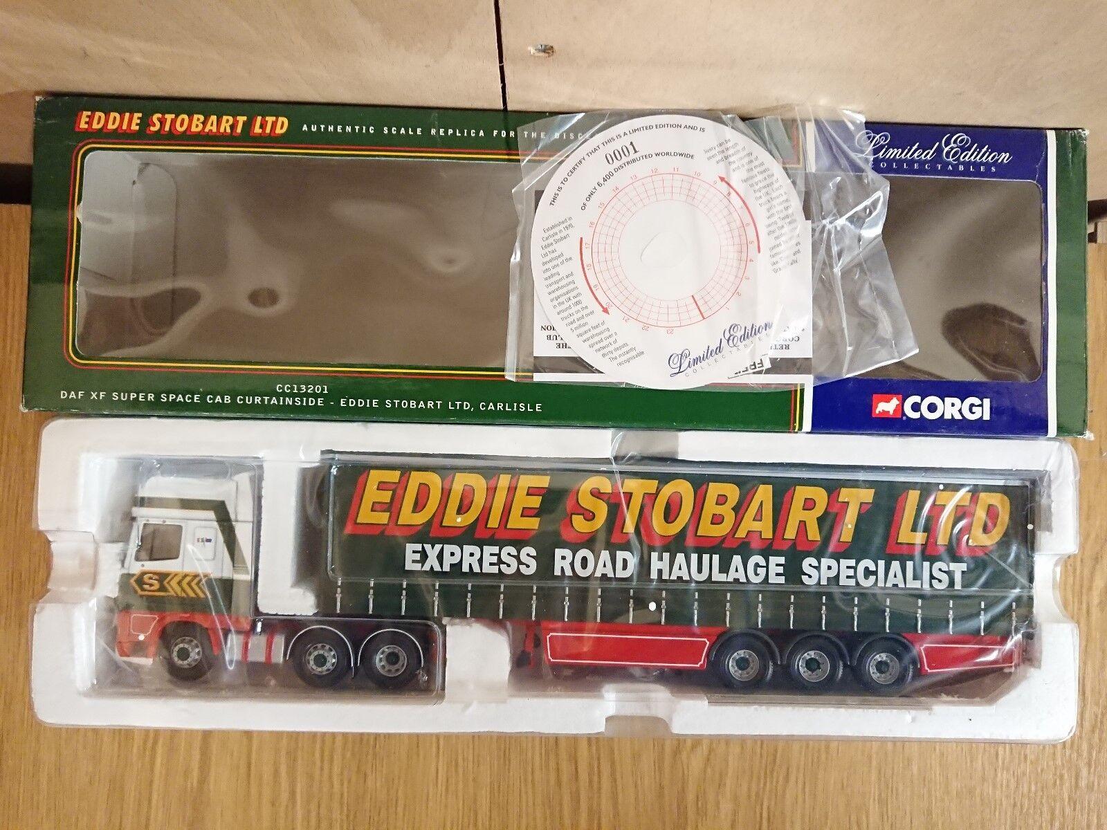 Corgi CC13201 DAF XF S. espacio Cab Curtainside Stobart Ltd Edit. Nº 0001 de 6400